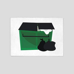 Garbage Dumpster 5'x7'Area Rug