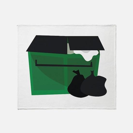 Garbage Dumpster Throw Blanket