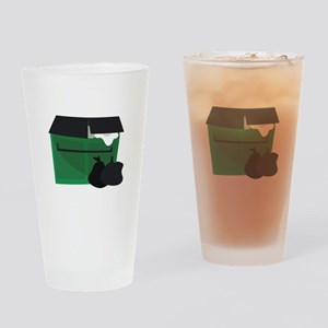 Garbage Dumpster Drinking Glass