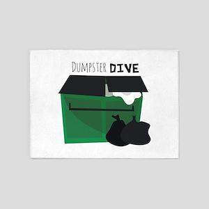 Dumpster Dive 5'x7'Area Rug