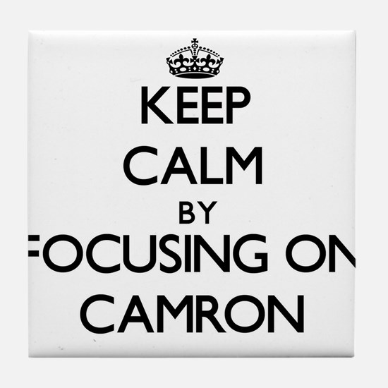 Keep Calm by focusing on on Camron Tile Coaster