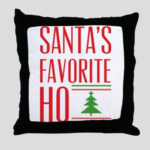Santa's Favorite Throw Pillow