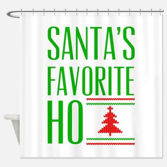 Santa's Favorite Shower Curtain