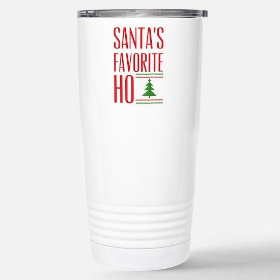 Santa's Favorite Stainless Steel Travel Mug