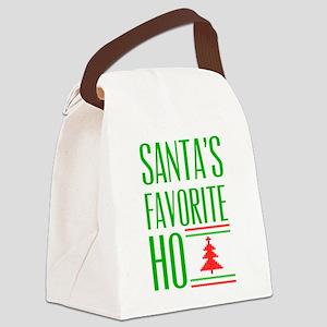 Santa's Favorite Canvas Lunch Bag