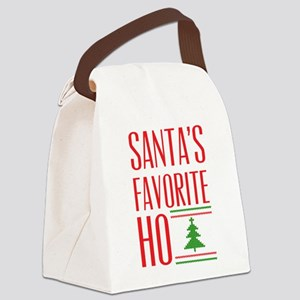 Santa's Favorite Canvas Lunch Bag