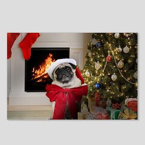 Misha's Pug Christmas Postcards (Package of 8)