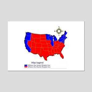 United States Map Mini Poster Print