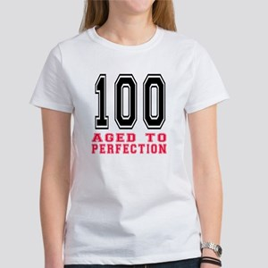 100 Aged To Perfection Birthday De Women's T-Shirt