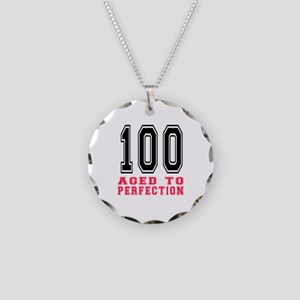 100 Aged To Perfection Birth Necklace Circle Charm