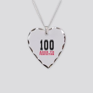 100 Aged To Perfection Birthd Necklace Heart Charm
