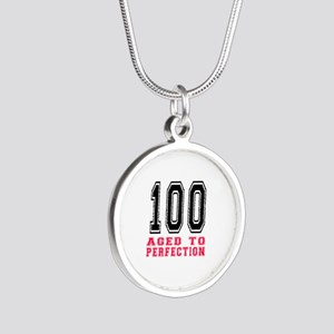 100 Aged To Perfection Birth Silver Round Necklace