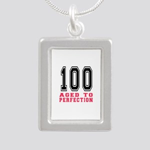 100 Aged To Perfection B Silver Portrait Necklace