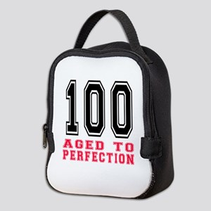 100 Aged To Perfection Birthday Neoprene Lunch Bag