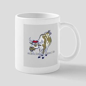 Cow Milking the Good Life Mugs