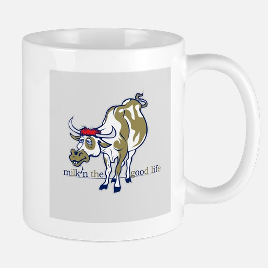 Cow Milking the Good Life Mugs