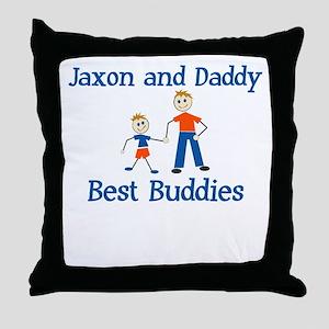 Jaxon & Daddy - Best Buddies Throw Pillow