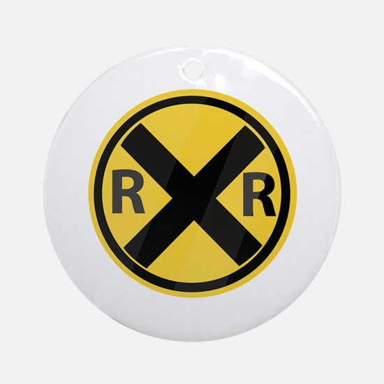RR Crossing Ornament (Round)