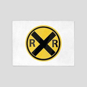 RR Crossing 5'x7'Area Rug