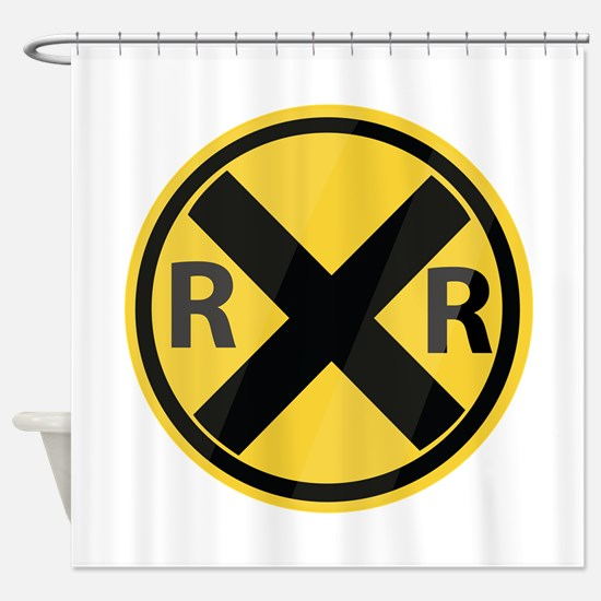 RR Crossing Shower Curtain