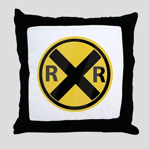 RR Crossing Throw Pillow