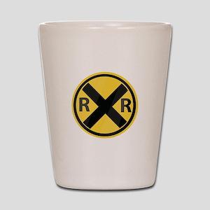 RR Crossing Shot Glass