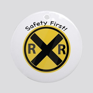 Safety First Ornament (Round)
