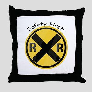 Safety First Throw Pillow