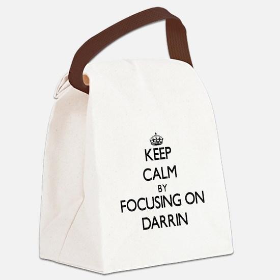 Keep Calm by focusing on on Darri Canvas Lunch Bag