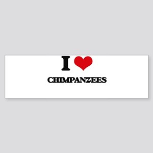 I love Chimpanzees Bumper Sticker
