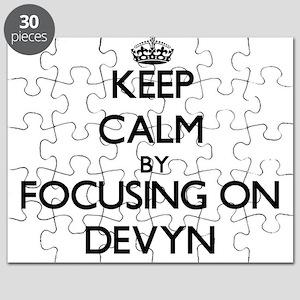 Keep Calm by focusing on on Devyn Puzzle
