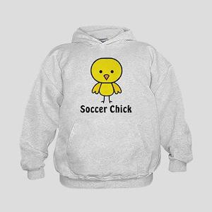 Soccer Chick Kids Hoodie