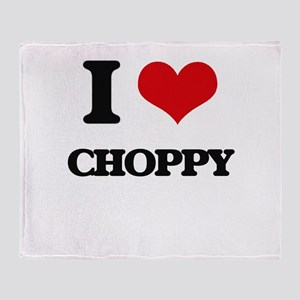 I love Choppy Throw Blanket