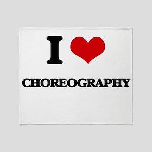 I love Choreography Throw Blanket