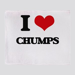 I love Chumps Throw Blanket