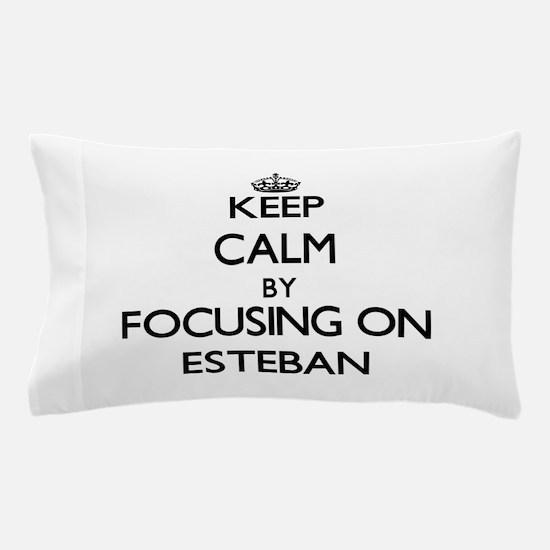 Keep Calm by focusing on on Esteban Pillow Case