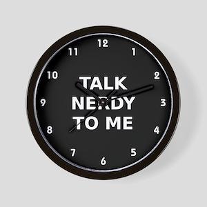 TalkNerdyToMe Wall Clock