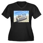 Surreal Monitors Infinite Loop Plus Size T-Shirt