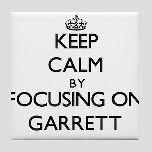 Keep Calm by focusing on on Garrett Tile Coaster