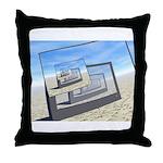 Surreal Monitors Infinite Loop Throw Pillow