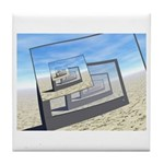 Surreal Monitors Infinite Loop Tile Coaster