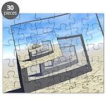 Surreal Monitors Infinite Loop Puzzle