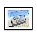 Surreal Monitors Infinite Loop Framed Panel Print