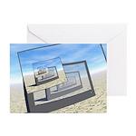 Surreal Monitors Infinite Loop Greeting Cards