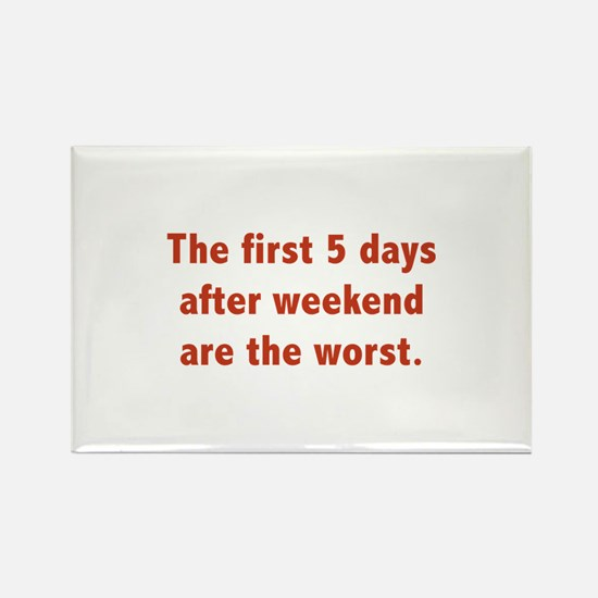 The First 5 Days After Weekend Are The Worst Recta