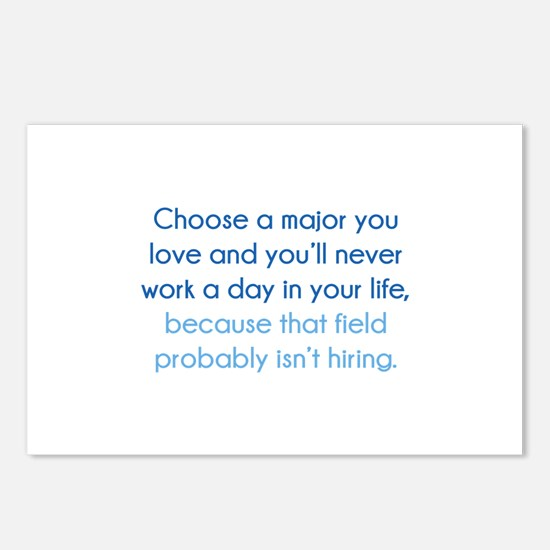 Choose A Major You Love Postcards (Package of 8)