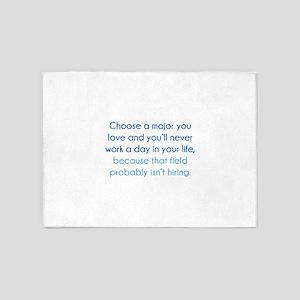 Choose A Major You Love 5'x7'Area Rug