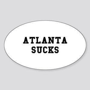 Atlanta Sucks Oval Sticker