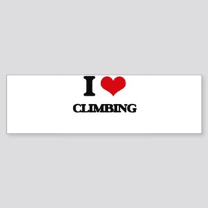 I love Climbing Bumper Sticker