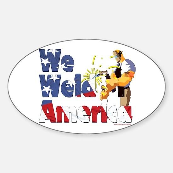 We Weld America Oval Decal